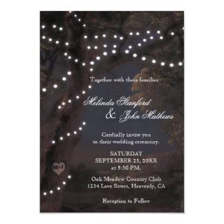 Schnur-Lichter der Hochzeits-Einladungs-  Karte