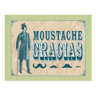 Schnurrbart danken Ihnen Postkarte