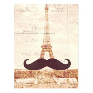 Schnurrbart-Eiffelturm Postkarte