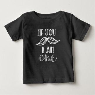 Schnurrbart-erstes Geburtstags-Shirt Baby T-shirt