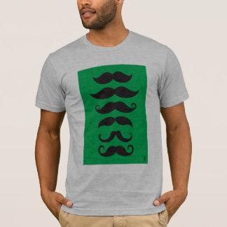 Schnurrbart - Grün T-Shirt