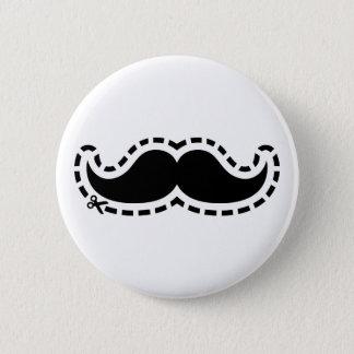 Schnurrbart herausgeschnitten runder button 5,7 cm