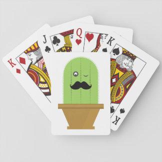 Schnurrbart-Kaktus-Spielkarten Spielkarten