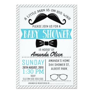 Schnurrbart-kleine Herr-Babyparty-Einladung 11,4 X 15,9 Cm Einladungskarte