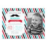 Schnurrbart-kleine Mann-Geburtstags-Party Einladun Ankündigungskarten