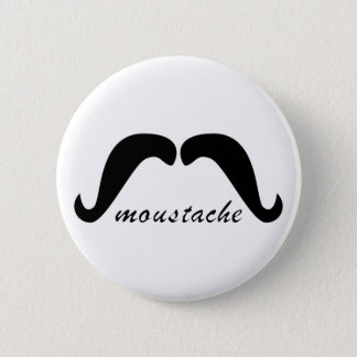 Schnurrbart moustache runder button 5,7 cm