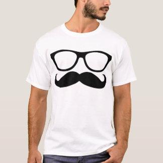 Schnurrbart-Nerd T-Shirt