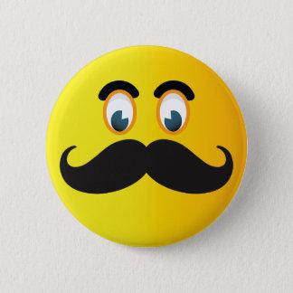 Schnurrbart-smiley-Knopf Runder Button 5,7 Cm