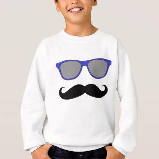 Schnurrbart und blauer Sonnenbrille-Humor Sweatshirt