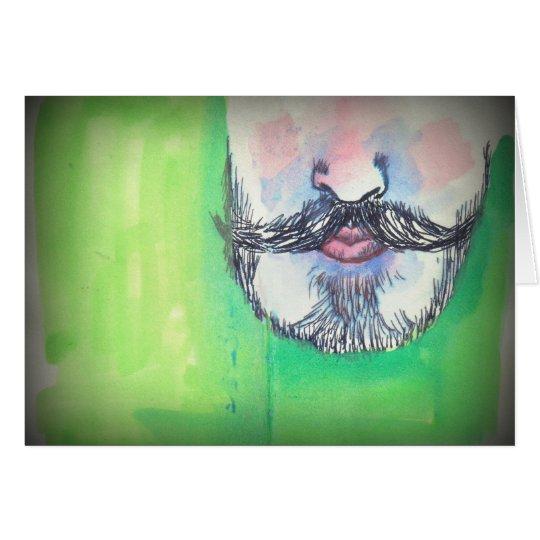 Schnurrbart und Spitzbart Grußkarte