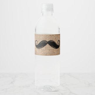 Schnurrbart-Wasser-Flasche beschriftet | kleinen