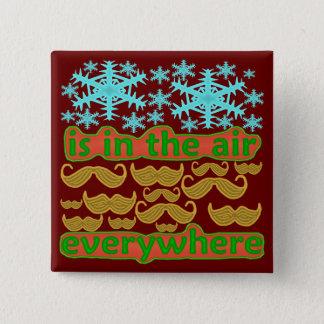 Schnurrbärte überall quadratischer button 5,1 cm