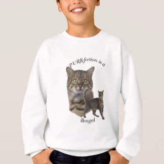 Schnurren-fection bengalisch sweatshirt