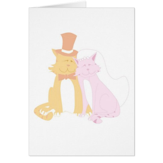 Schnurrende Hochzeits-Katzen Karte