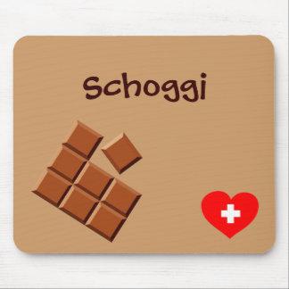 Schoggi (Schweizer Schokolade) mousepad