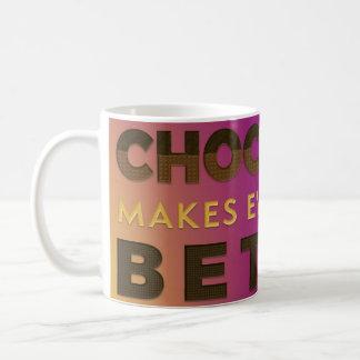 Schokolade ist besser Weiß 11-Unze-klassische Kaffeetasse