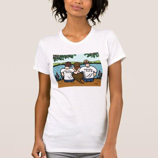 Schokolade Labrador und Mamma-und Vati-T-Stück T-Shirt