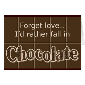 Schokolade notecard karte