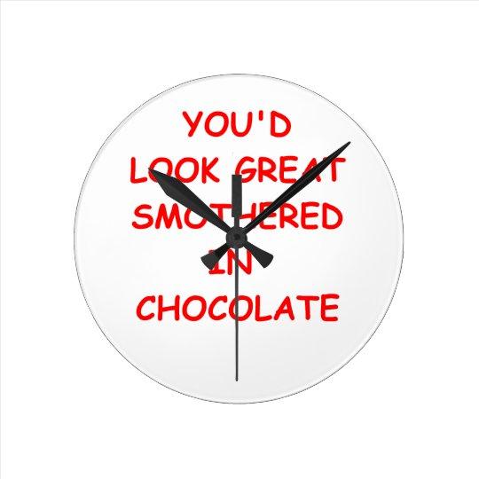 Schokolade Runde Wanduhr