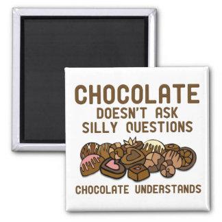 Schokolade versteht lustigen Kühlschrankmagnet