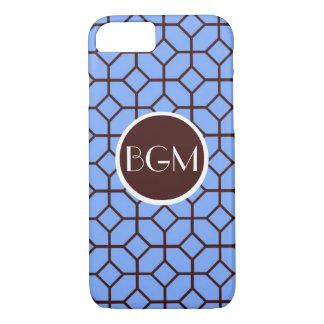 Schokoladen-Diamant-mit Monogramm Telefon-Kasten iPhone 8/7 Hülle