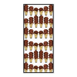 Schokoladen-Eistüte-Hintergrund Werbekarte