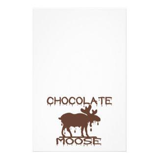 schokoladen elche bedrucktes papier. Black Bedroom Furniture Sets. Home Design Ideas