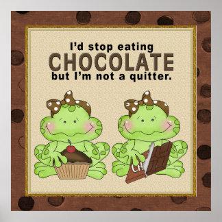 Schokoladen-Froschplakat Poster