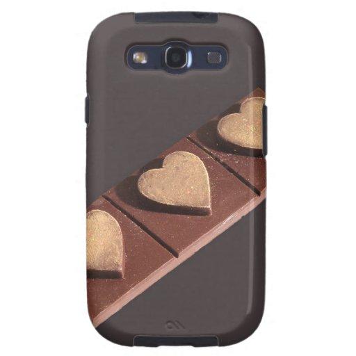 Schokoladen-Herzen Save the Date Galaxy SIII Etuis
