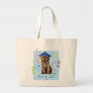 Schokoladen-Labrador-Absolvent Jumbo Stoffbeutel