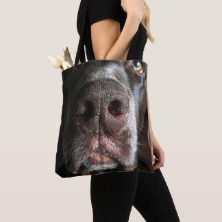 Schokoladen-Labrador-Nasen-nahe hohe Fotografie Tasche