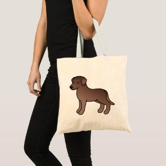Schokoladen-Labrador-Retriever-Hundezeichnen Tragetasche