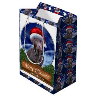 Schokoladen-Labrador retriever-Weihnachten Mittlere Geschenktüte