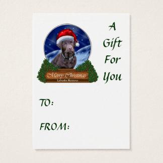 Schokoladen-Labrador retriever-Weihnachtsgeschenke Visitenkarte