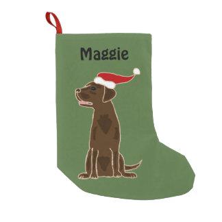 Schokoladen-Labrador-Retriever-WeihnachtsStrumpf Kleiner Weihnachtsstrumpf
