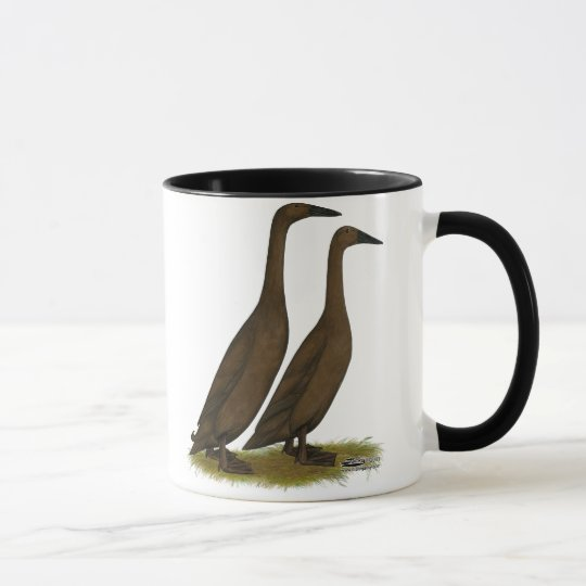 Schokoladen-Läufer-Enten Tasse