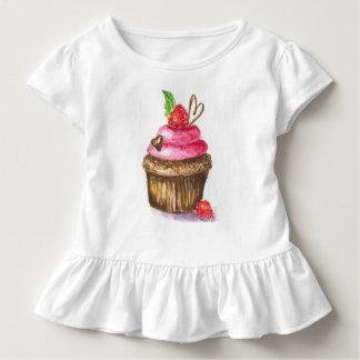 Schokoladen-und Himbeerkuchen-KinderShirt Kleinkind T-shirt