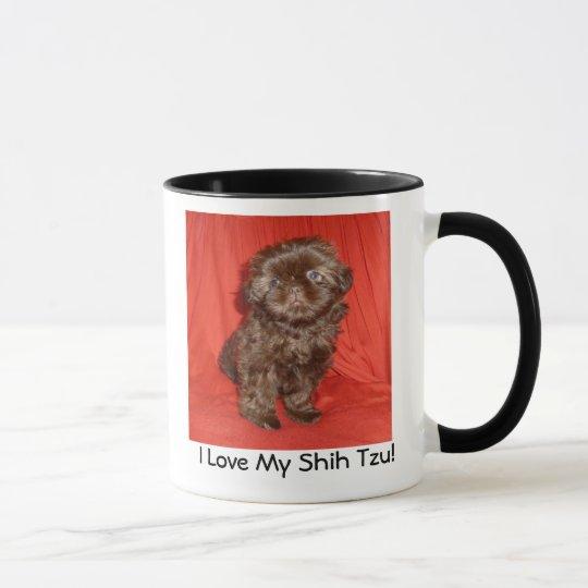Schokoladen-Welpen-Tasse Shih Tzu Tasse