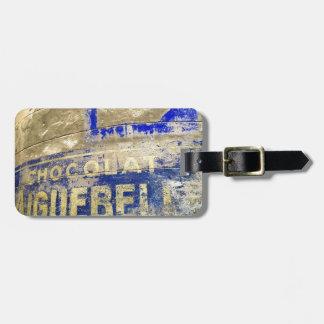Schokoladen-Zeichen Gepäckanhänger