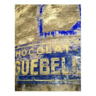 Schokoladen-Zeichen Postkarte