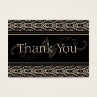 schokoladenbraun danke visitenkarte