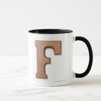 Schokoladenbuchstabe f tasse