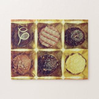 Schokoladenkasten-Fotopuzzlespiel
