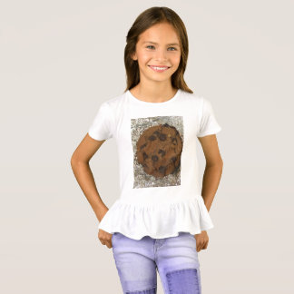 Schokoladenkeks-Rüsche-Shirt T-Shirt