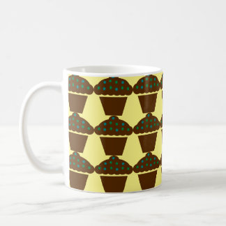 Schokoladenkleiner kuchen kaffeetasse