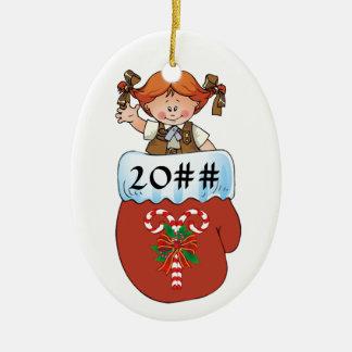 Schokoladenkuchen-HandschuhRedhead Ovales Keramik Ornament