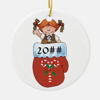 Schokoladenkuchen-HandschuhRedhead Rundes Keramik Ornament