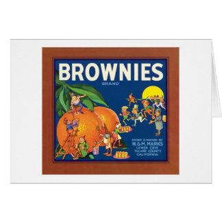 Schokoladenkuchen-Vintager Frucht-Aufkleber Karte