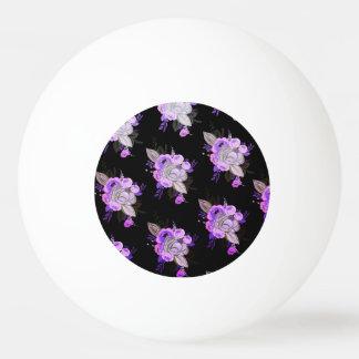 Schön, Retro, modern, mit Blumen, ultraviolett, Ping-Pong Ball