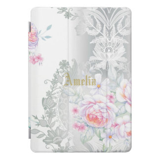 schön, silk, Damast, Rosa, Rosen, Vintag, wedding, iPad Pro Cover